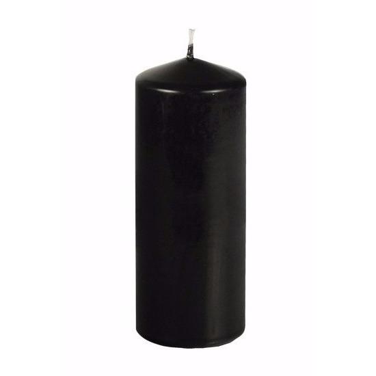 Halloween stompkaars zwart 18 cm