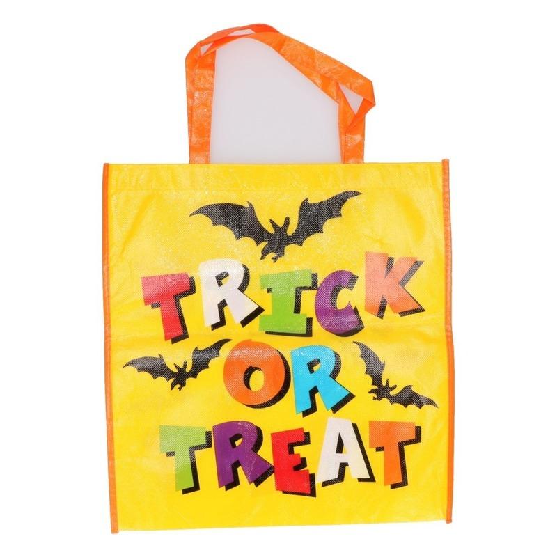 Halloween tas voor snoep geel