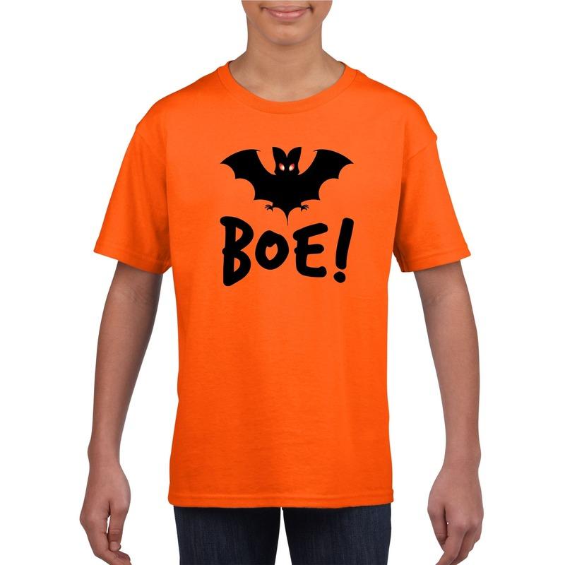Halloween vleermuis t-shirt oranje kinderen