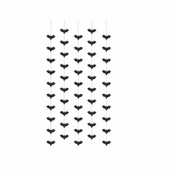 Halloween - Vleermuizen hangdecoraties 5 stuks