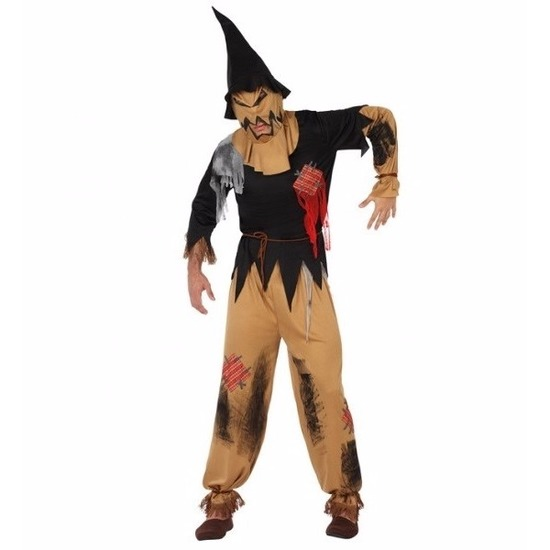 Halloween vogelverschrikker kostuum voor volwassenen