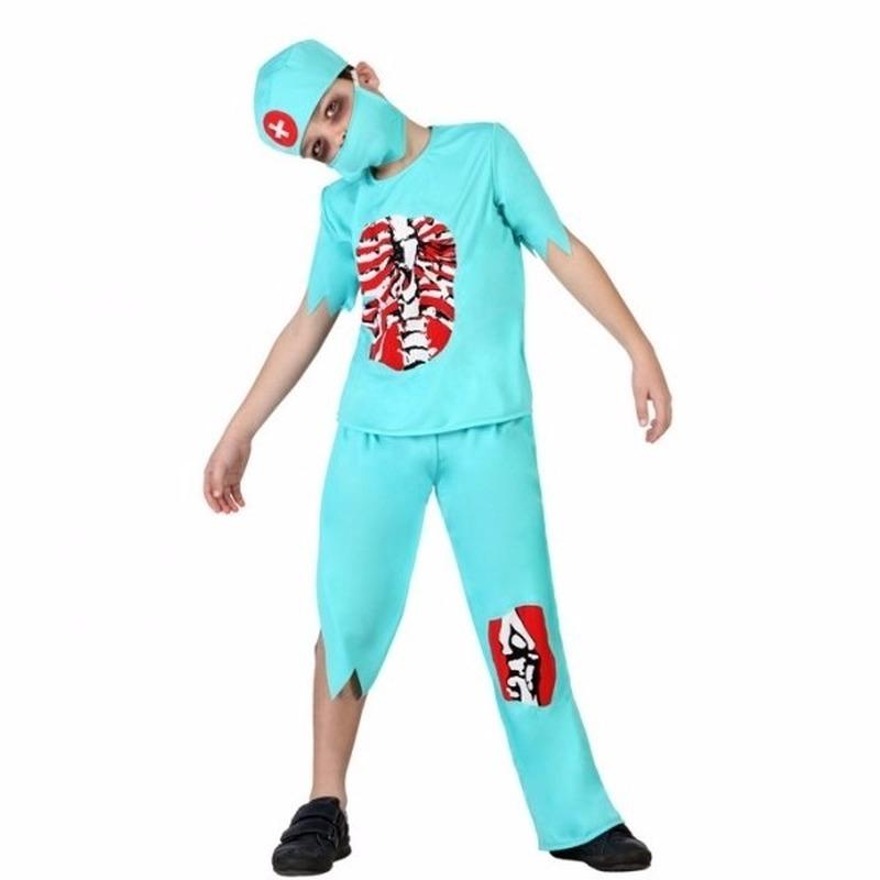 Halloween zombie dokter kostuum voor kinderen