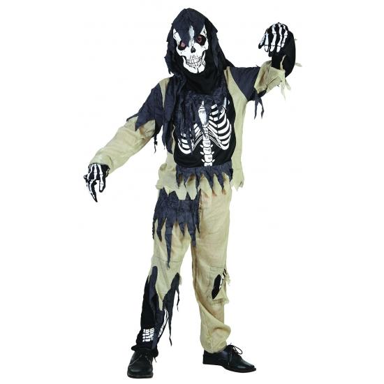 Halloween - Zombie skelet pak voor kinderen