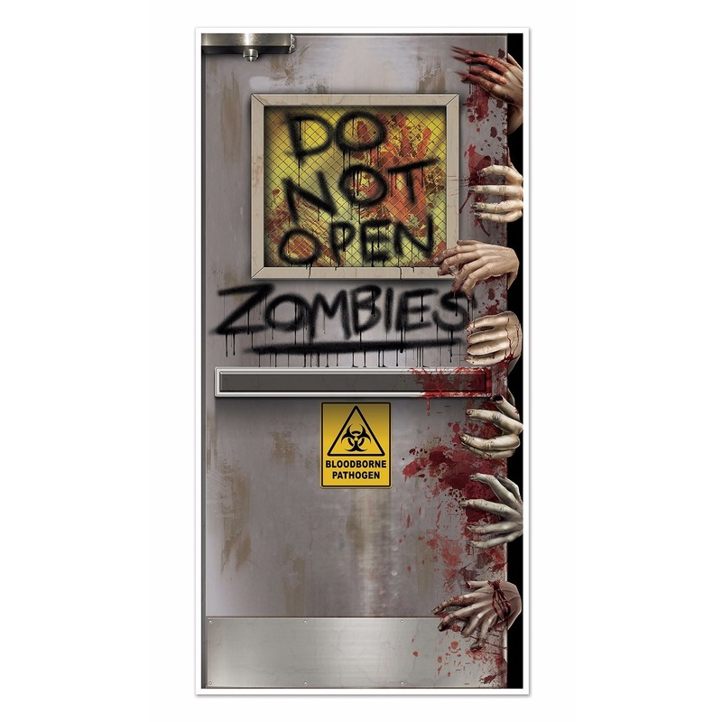 Halloween zombies deurposter 152 cm