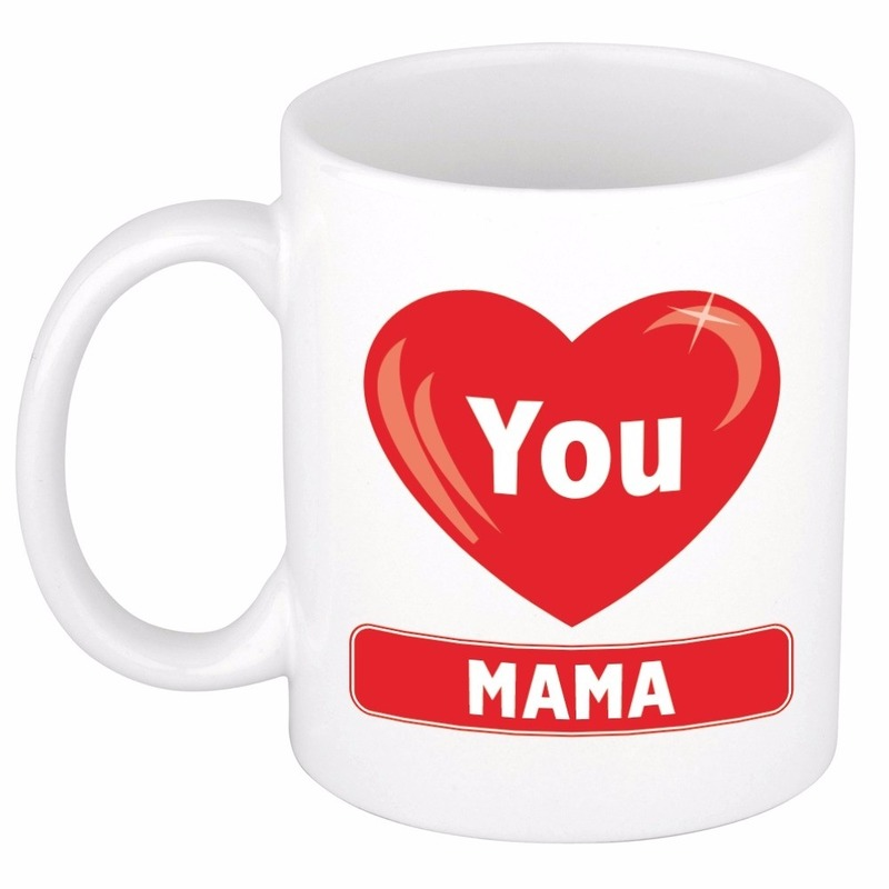 Hartje I love you Mama mok / beker 300 ml