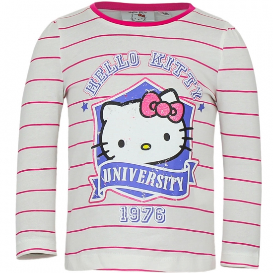 T shirts en poloshirts Hello Kitty Hello Kitty t shirt wit met roze
