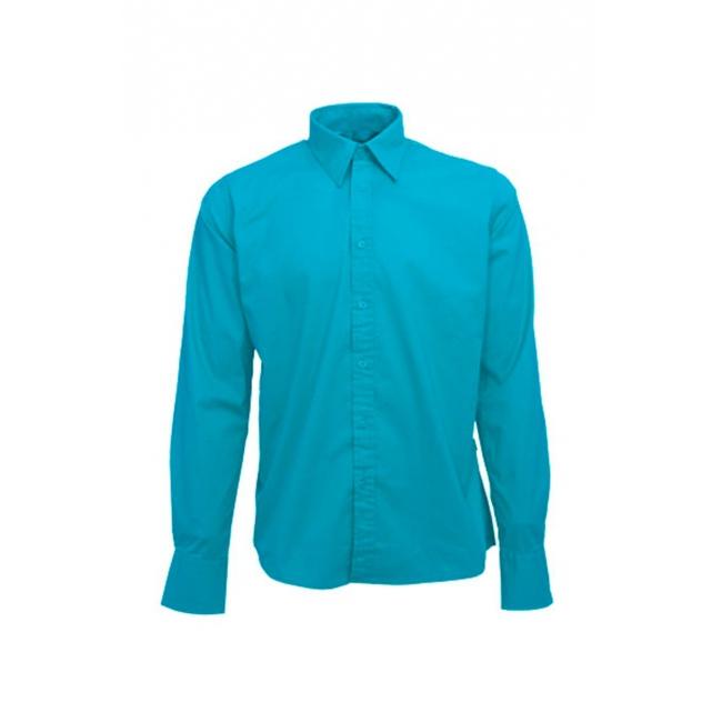 Overhemden Lemon Soda Heren overhemd turkoois lange mouw