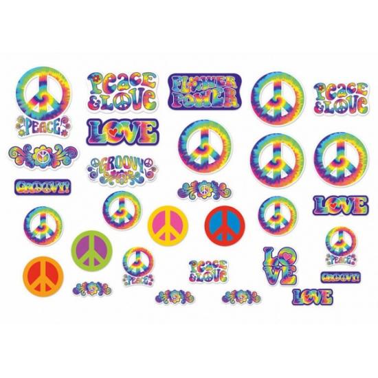 Hippie feest decoratie 30 stuks Bellatio Goedkoop