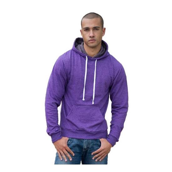 Hooded sweater paars voor heren AWDis te koop
