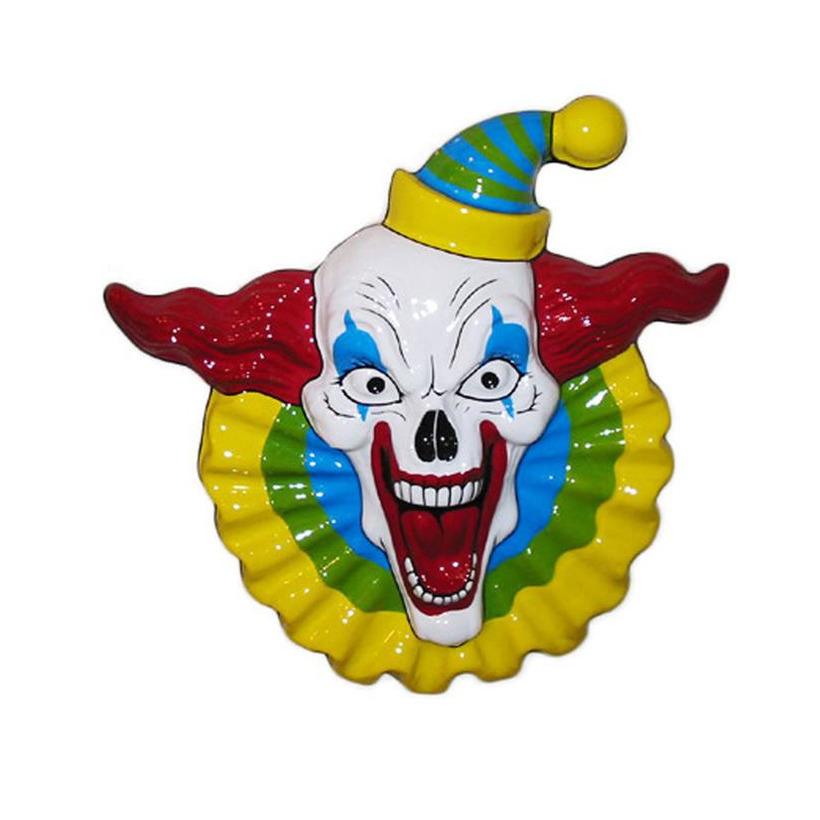 Horror clown halloween wandplaat 40 cm
