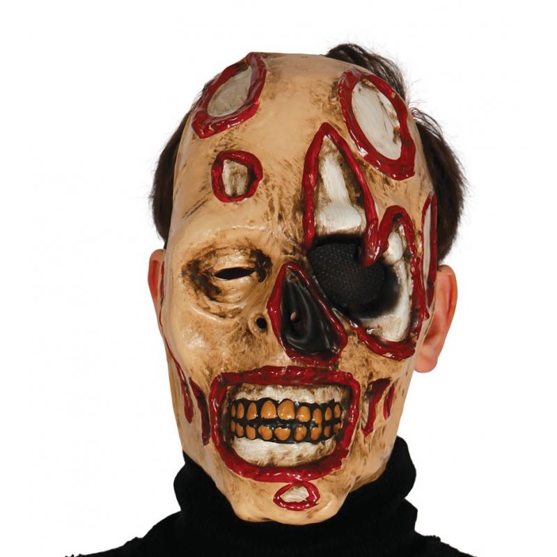 Horror halloween zombie masker