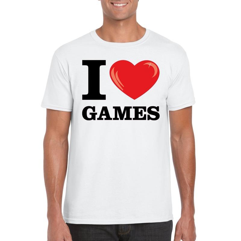 I love games t-shirt wit heren