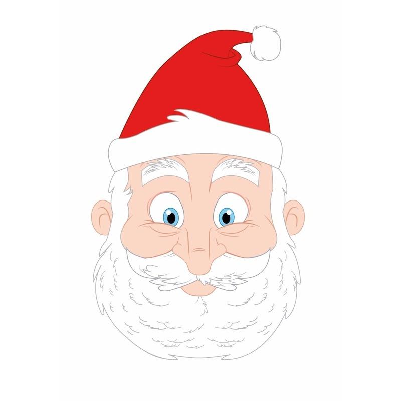 160864f383d Kartonnen Kerstman masker voor kinderen - Kerst kostuums accessoires ...