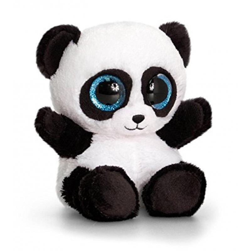 Keel toys pluche panda knuffel 15 cm. pluche knuffel panda met grote glitter ogen. formaat: 15 cm.de knuffel ...