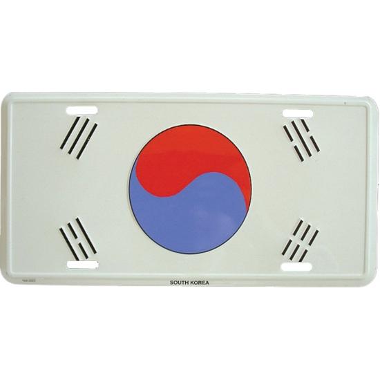 Kentekenplaat Zuid Korea