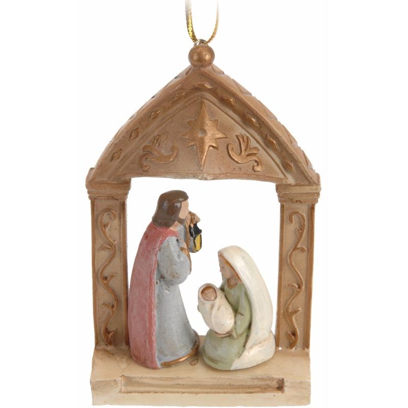 Kerst feestartikelen Geen Kerstboom decoratie kerststal hanger 9 cm type 3