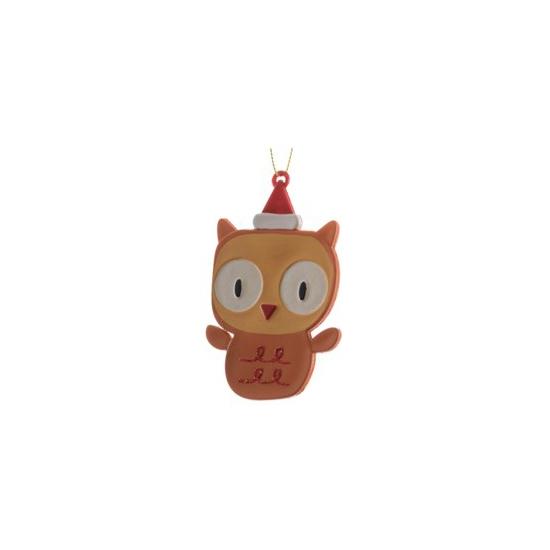 Kerstboom decoratie uil 12 cm