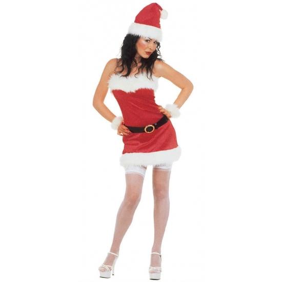 Kerstjurkje flanel voor dames Bellatio Kerst kostuums