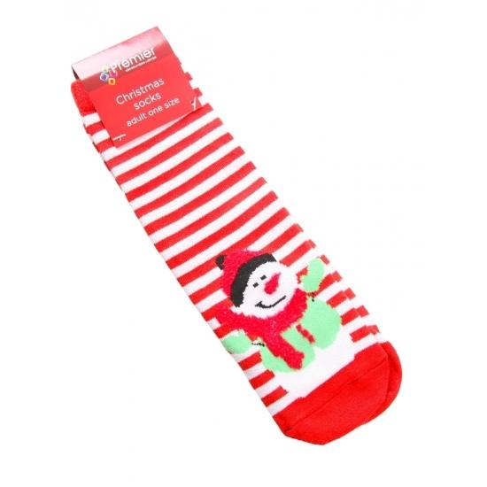 Kerstsokken sneeuwpop voor dames Bellatio Sokken en Panty's