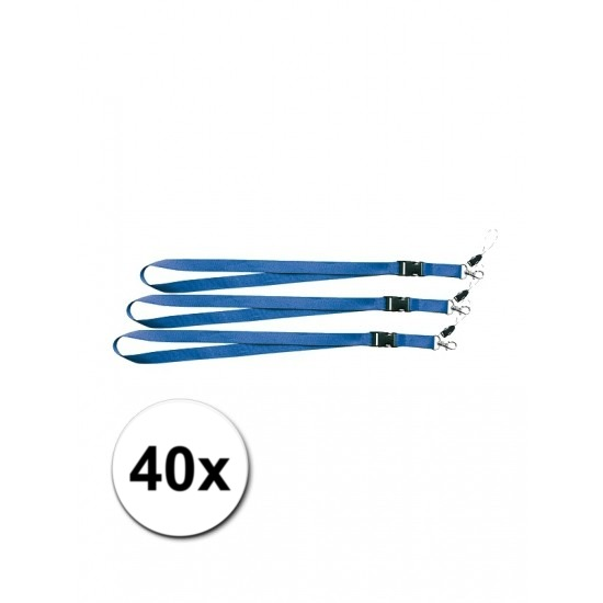 Keycords blauw 40 stuks