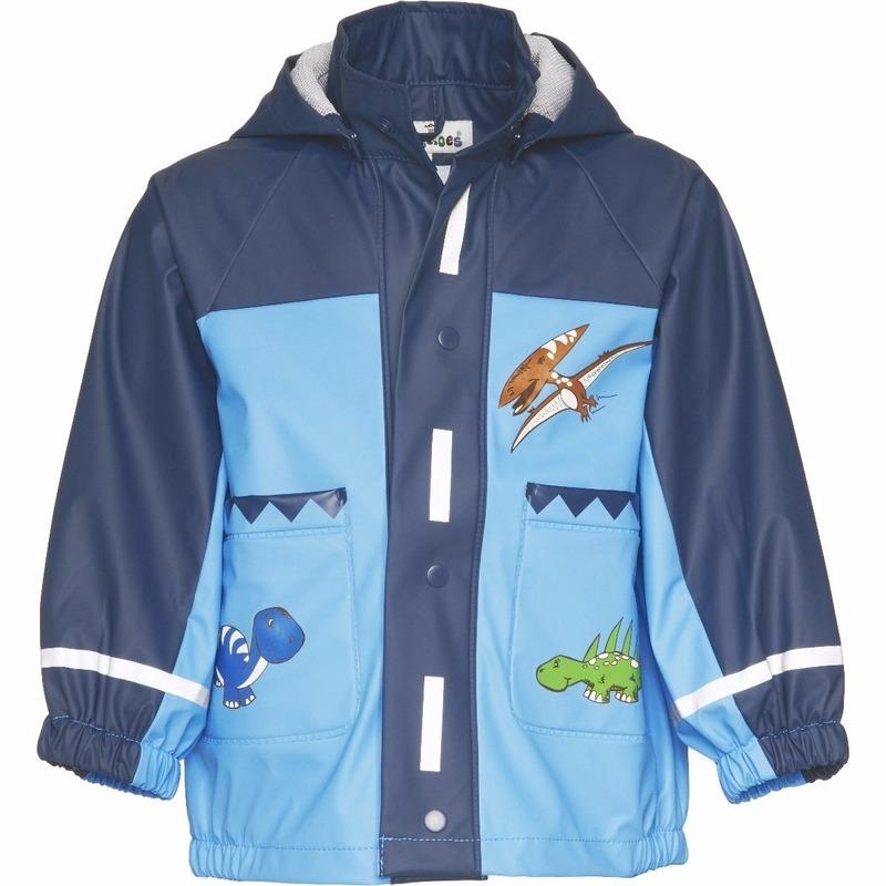 Regenpakken en poncho Kinder blauwe regenjas dinosaurus design