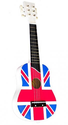 Kinder gitaar met de Engelse vlag
