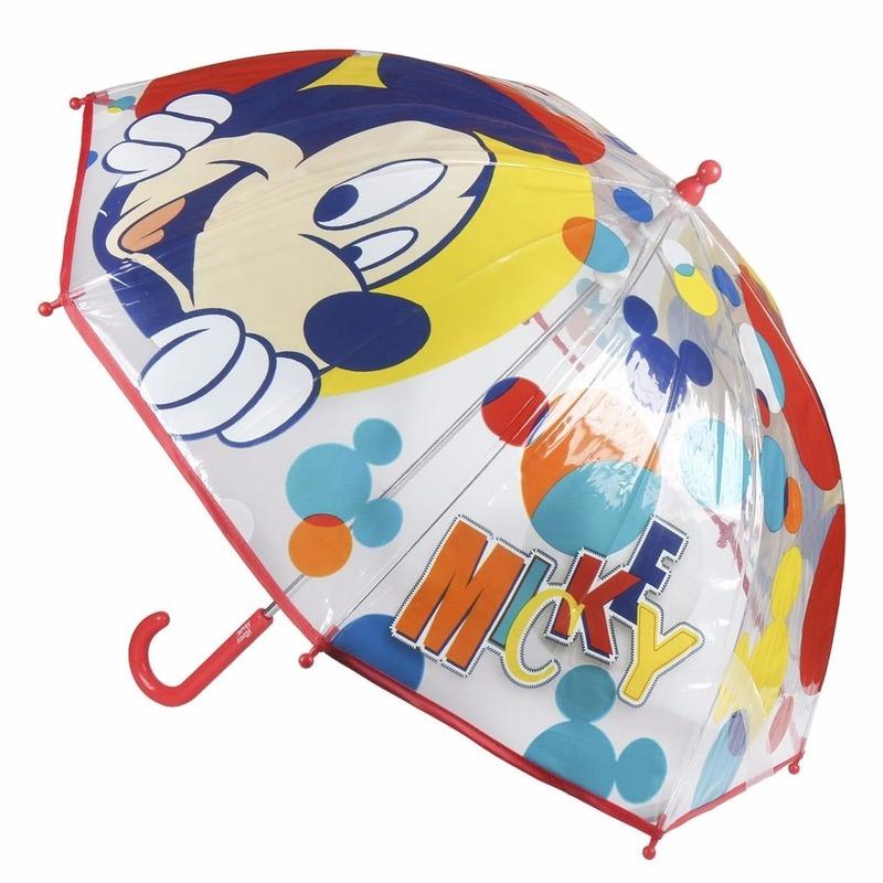 Outdoor Vakantie Disney Kinder paraplu Mickey Mouse rood