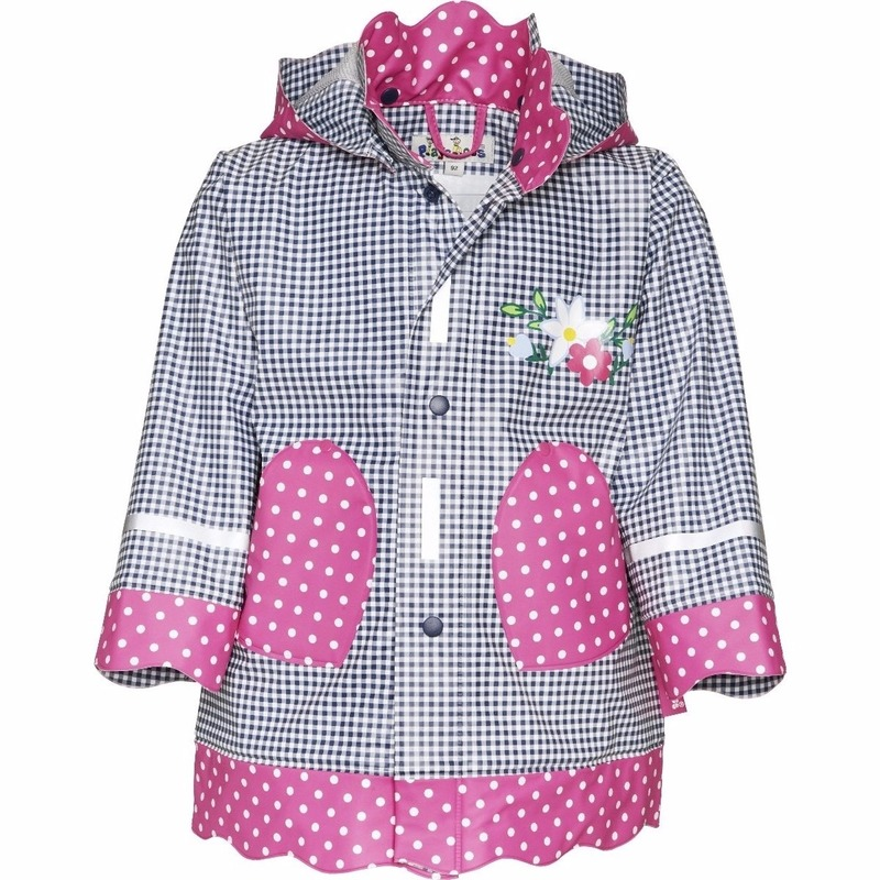 Kinder regenjas navy roze design Playshoes Koopje