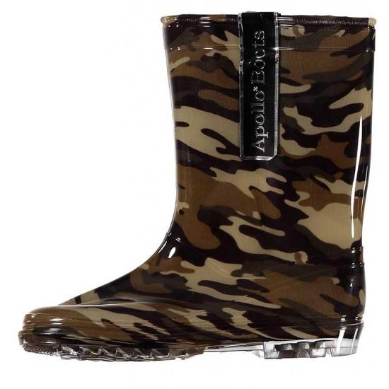 Schoenen en laarzen Bellatio Kinder regenlaarzen met camouflage print groen