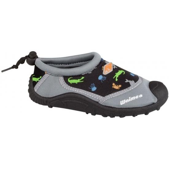Kinder waterschoenen zwart met grijs Waimea Schoenen en laarzen