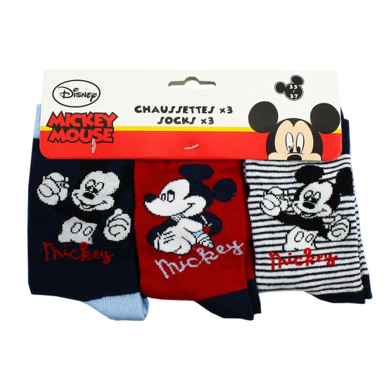 Kindersokken Mickey Mouse 3 pak Disney Sokken en Panty's