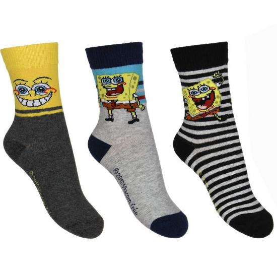 Sokken en Panty's Kindersokken Spongebob 3 pak nr 1