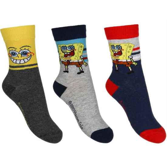 Spongebob Kindersokken Spongebob 3 pak nr 2 Sokken en Panty's