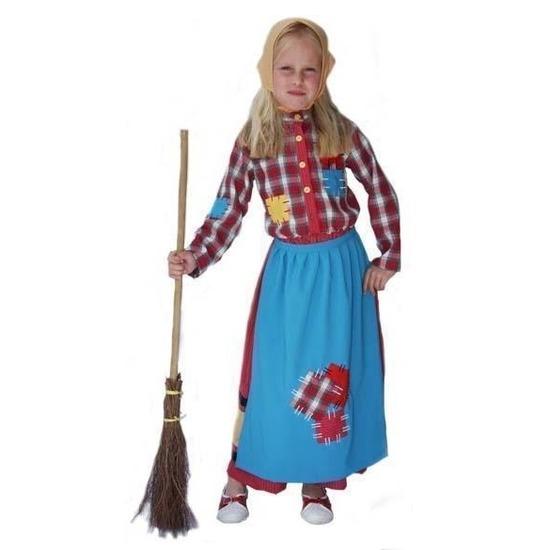 Kleurrijke heksen kostuum voor kinderen 140 Multi