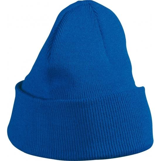 Mutsen Bellatio Kobalt blauwe gebreide muts voor kinderen