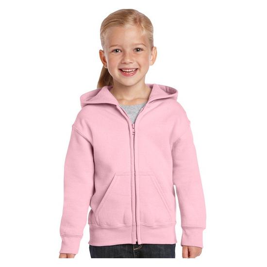 Truien en sweaters Gildan Lichtroze capuchon vest voor meisjes