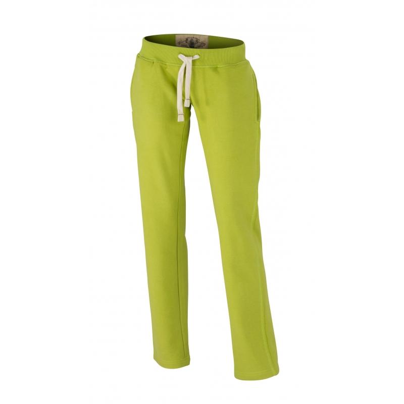 Sportkleding James Nicholson Lime dames joggingbroek vintage