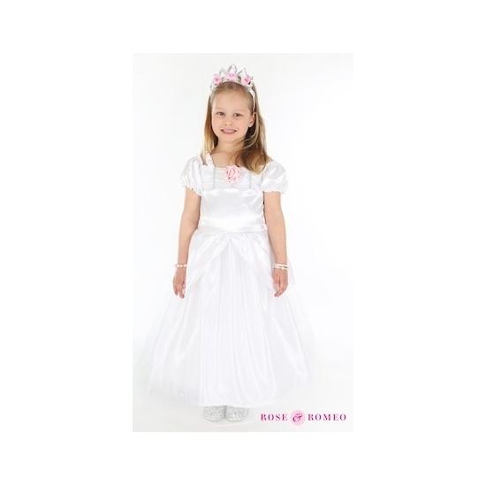 Luxe communie jurkje wit voor meisjes