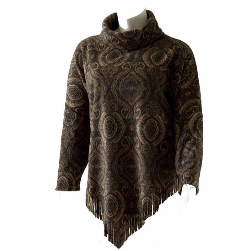 Truien en sweaters Boris Luxe dames omslag ponchotrui print