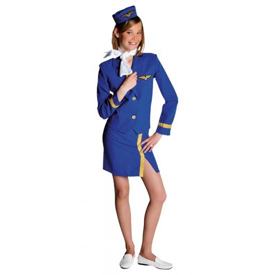 Luxe stewardess kostuum voor kinderen