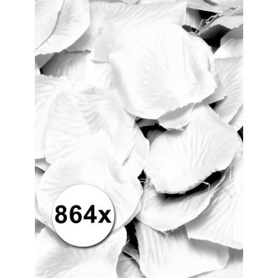 Luxe witte rozenblaadjes pakket