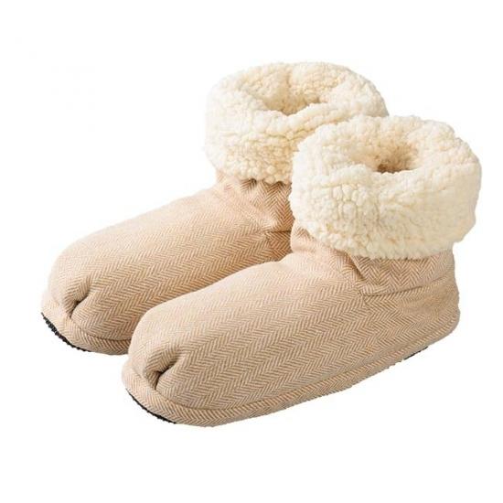 Sloffen en Pantoffels Magnetron warmte sloffen beige voor dames