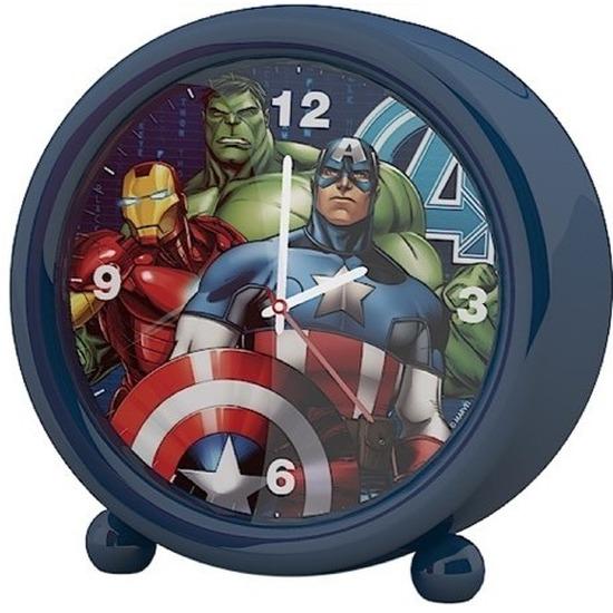 Marvel The Avengers kinder wekker/klokje blauw 11,5 x 12 cm Blauw