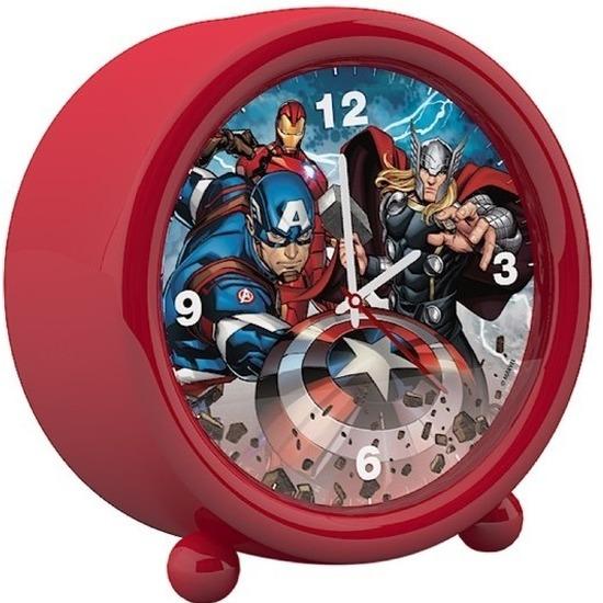 Marvel The Avengers kinder wekker/klokje rood 11,5 x 12 cm Rood