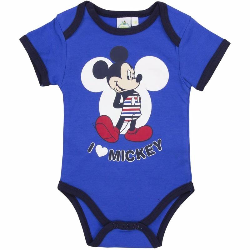 Mickey korte mouw rompertje blauw Disney Het leukste