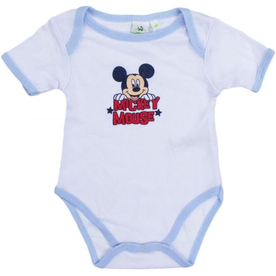 Overige kleding Disney Mickey korte mouw rompertje wit lichtblauw