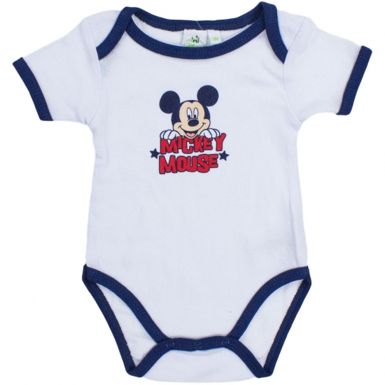 Overige kleding Mickey korte mouw rompertje wit navy