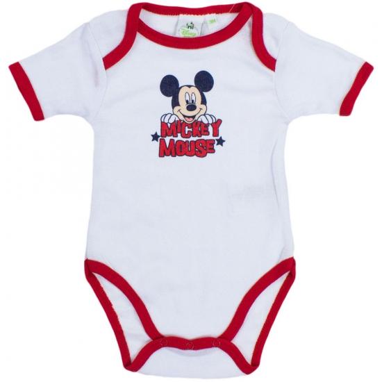 Mickey korte mouw rompertje wit rood Disney Premier