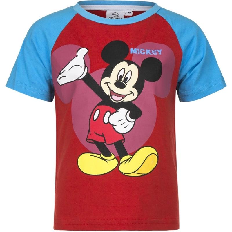 Disney Mickey Mouse t shirt rood blauw voor jongens T shirts en poloshirts