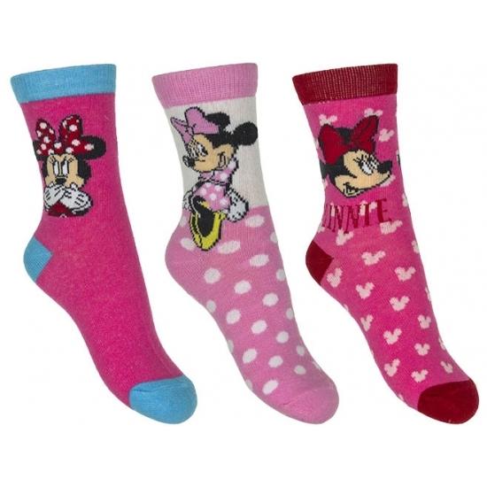 Minnie Mouse meisjes sokken 3 pak roze Disney te koop